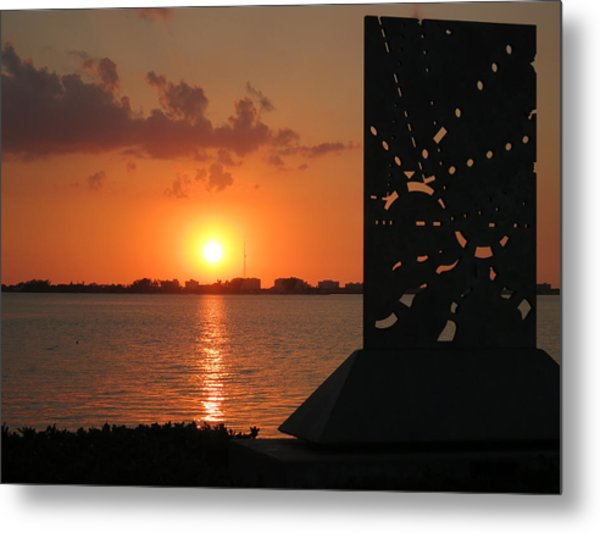 Sarasota Bay Sunset Metal Print