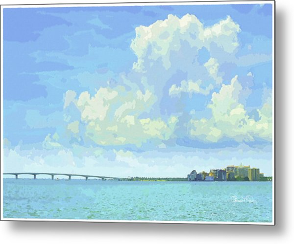 Sarasota Skyline From Sarasota Bay Metal Print