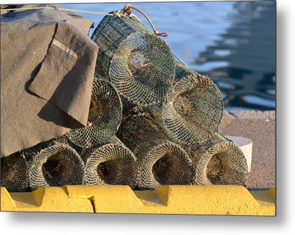 Sardinian Crab Traps Metal Print