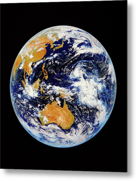 Satellite Image Of Australasia Metal Print by Kevin A Horgan/science Photo Library