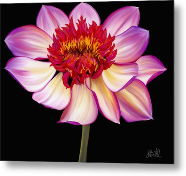 Satin Flames Metal Print