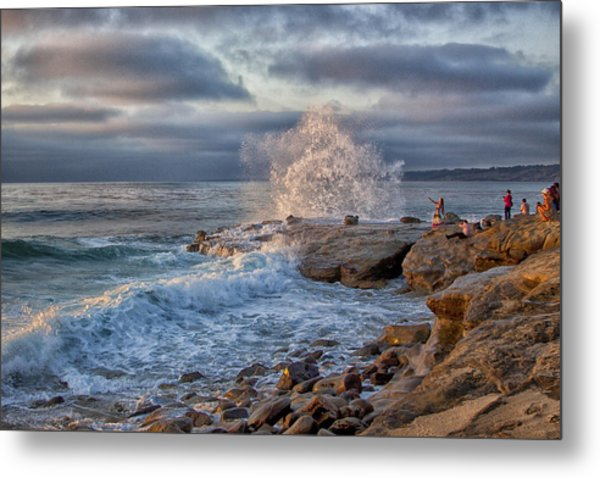 Saturday At The Shore With Gustavo. Metal Print