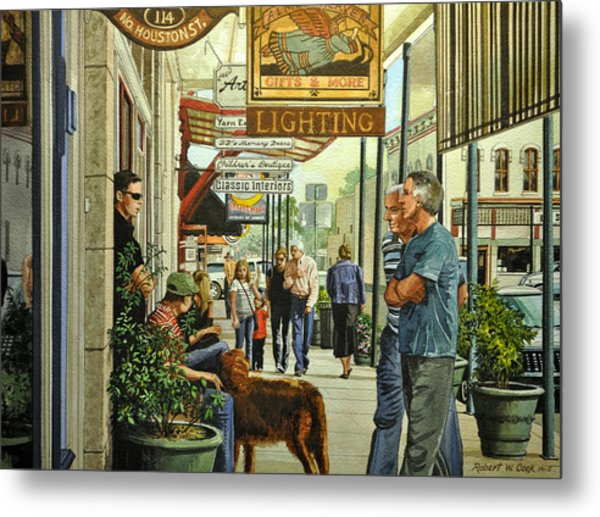 Saturday On The Square Metal Print