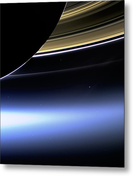 Saturn 2 Metal Print by Renee Anderson