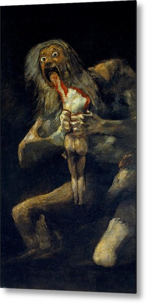 Saturn Devouring His Son Metal Print