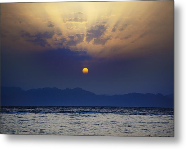 Saudi Sunrise Metal Print