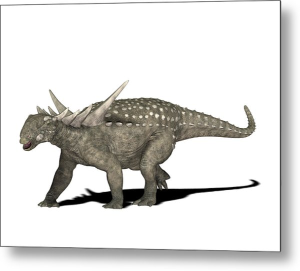 Sauropelta Dinosaur Metal Print by Friedrich Saurer