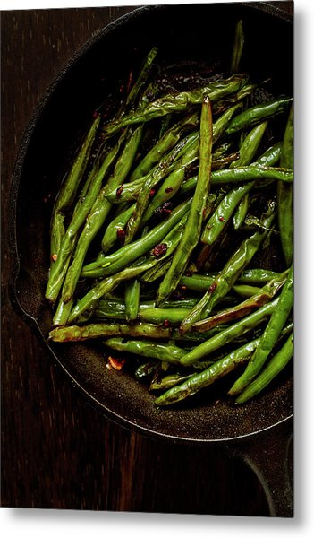 Sauteed String Beans Metal Print by Joseph Clark