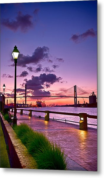 Savannah River Bridge Metal Print