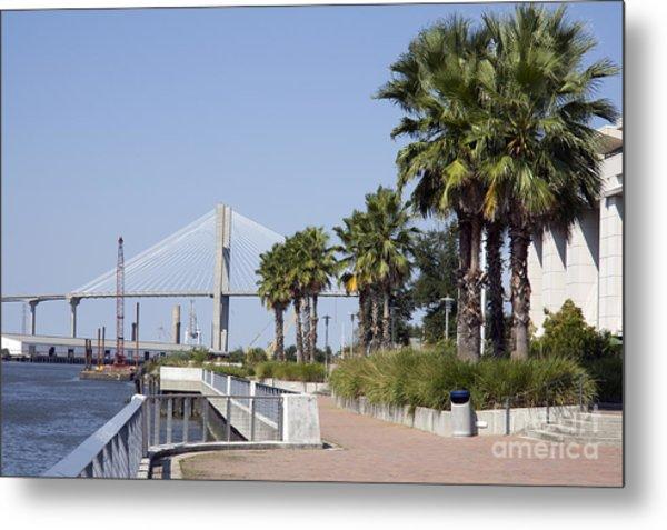 Savannah Riverwalk Metal Print