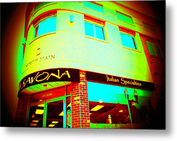 Savona Fine Italian Food And Wine 6 Metal Print