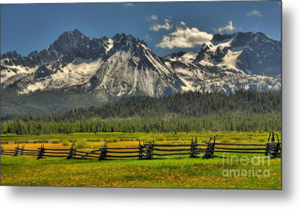 Sawtooth Mountains Metal Print