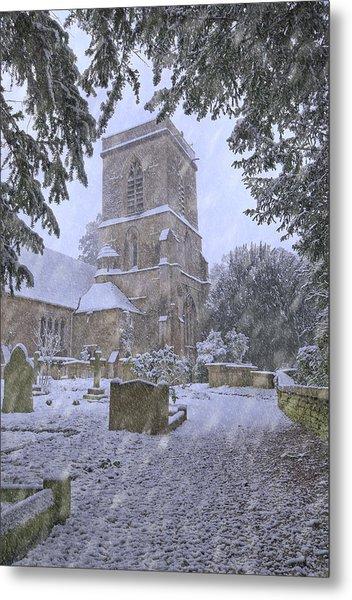 Saxon Church In Winter Metal Print