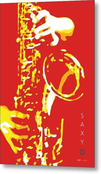 Saxy Red Poster Metal Print
