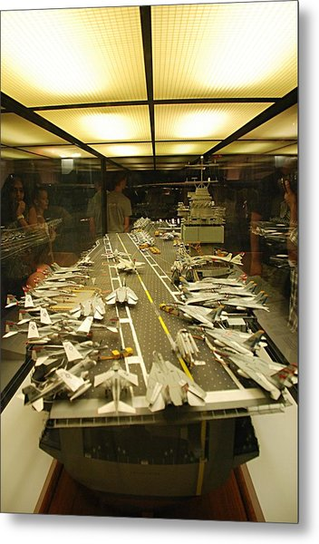 Scale Model Aircraft Carrier Metal Print