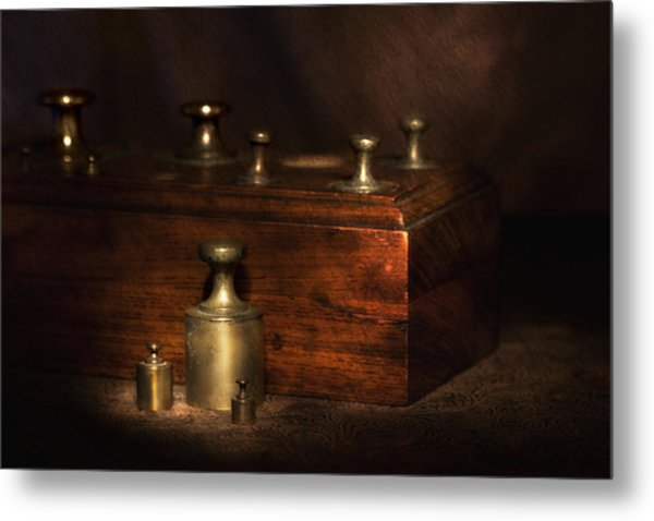 Scale Weights Still Life I Metal Print