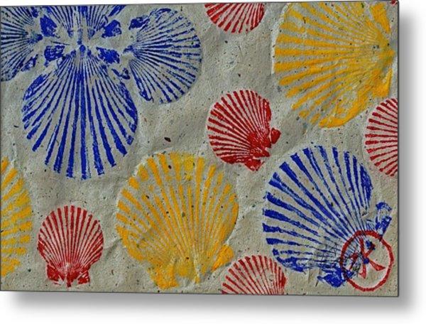 Scallops - Seafood Rainbow Metal Print
