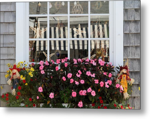 Scarecrows On Martha's Vineyard  Metal Print by Juergen Roth
