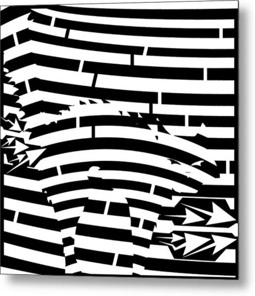 Scared Kitty Maze Metal Print by Yonatan Frimer Maze Artist
