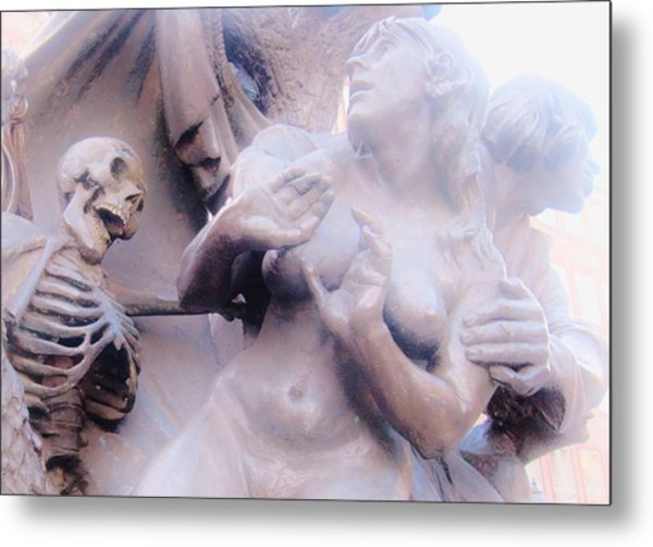 Scared To Death Metal Print by Sharon Costa