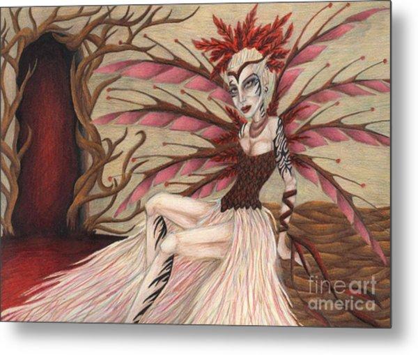Scarlet Metal Print by Coriander  Shea