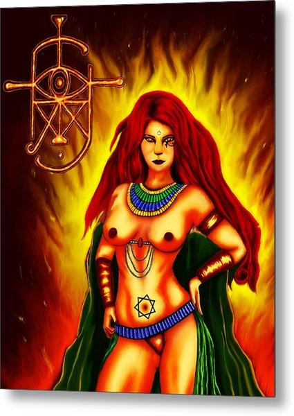 Scarlet Lady Metal Print