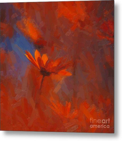 Scarlet Petals  Metal Print