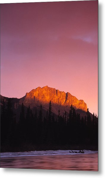 Scarlet Yamnuska And Bow River Metal Print