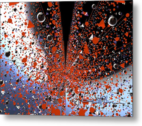 Scatter Burst One Metal Print