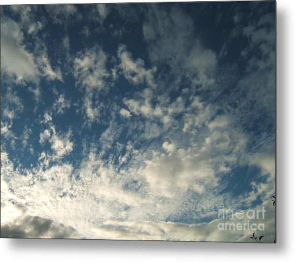 Scattered Clouds Metal Print by Margaret McDermott