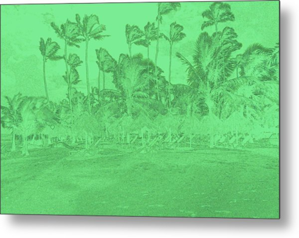 Scene In Green Metal Print