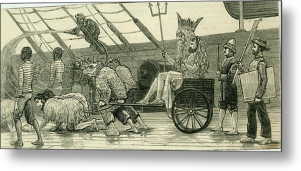 Scene On A Royal Navy Ship Metal Print by Mary Evans Picture Library