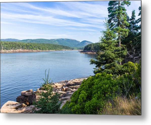Metal Print featuring the photograph Scenic Cove At Acadia National Park by John M Bailey