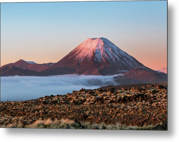Scenic Landscape With Ngauruhoe Volcano Metal Print by Matteo Colombo
