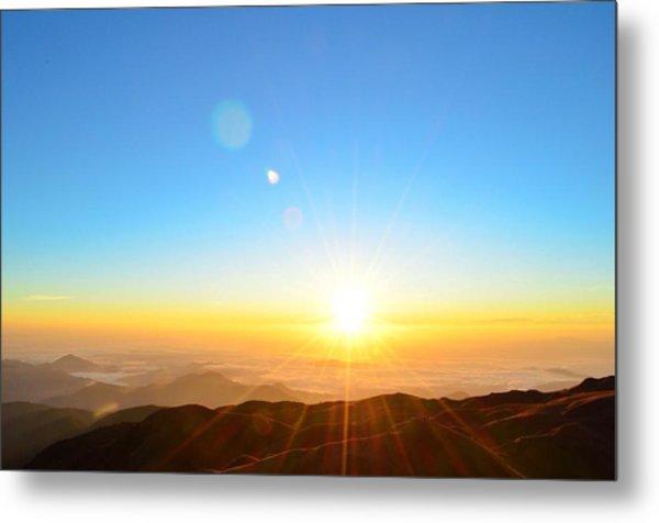 Scenic View Of Sunrise Metal Print by Arturo Rafael Enriquez / Eyeem
