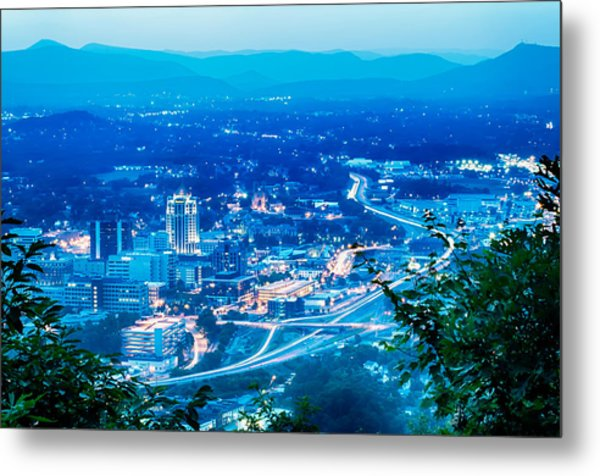Scenics Around Mill Mountain Roanoke Virginia Usa Metal Print