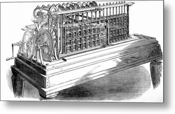 Scheutz's Calculating Machine Metal Print