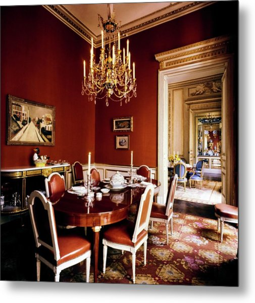 Schlumberger's Dining Room Metal Print by Horst P. Horst