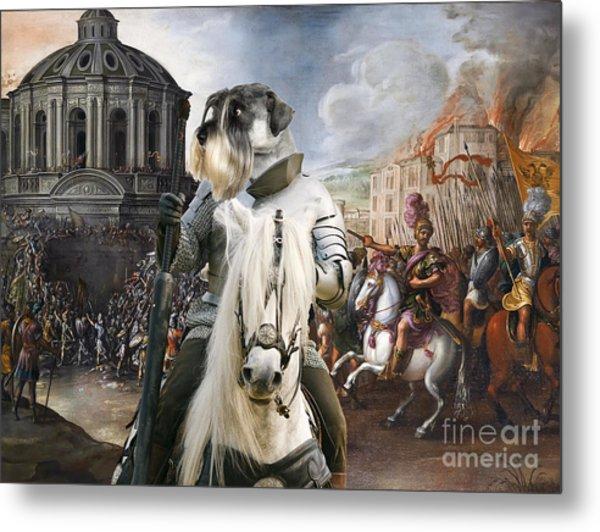 Schnauzer Art - A Siege The Sack Of Rome   Metal Print
