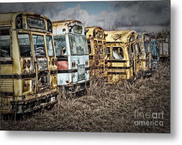 School Buses Metal Print