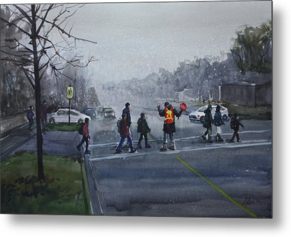 School Traffic Metal Print