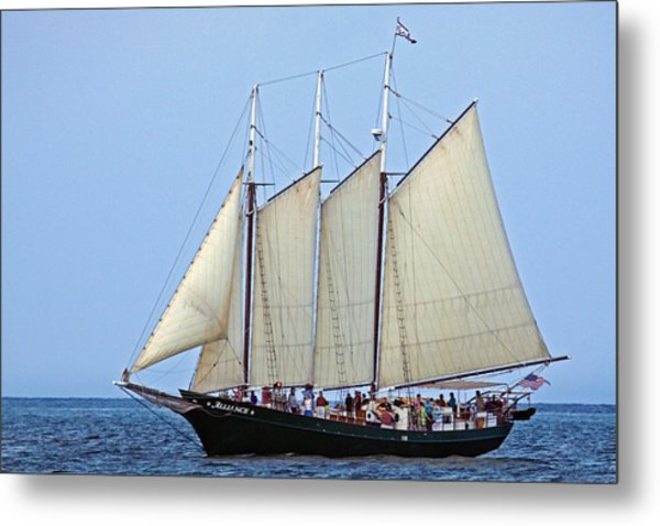 Schooner Alliance Metal Print