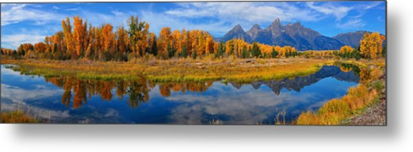 Schwabacher Autumn Reflections Panorama Metal Print