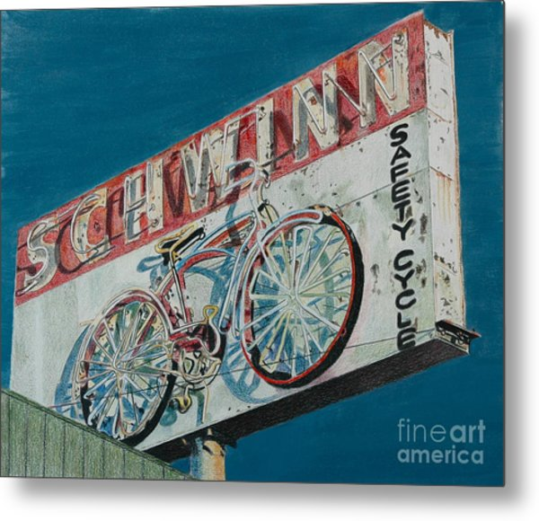 Schwinn Safety Cycle Metal Print
