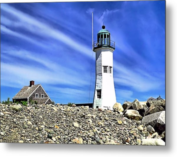 Scituate Lighthouse Metal Print