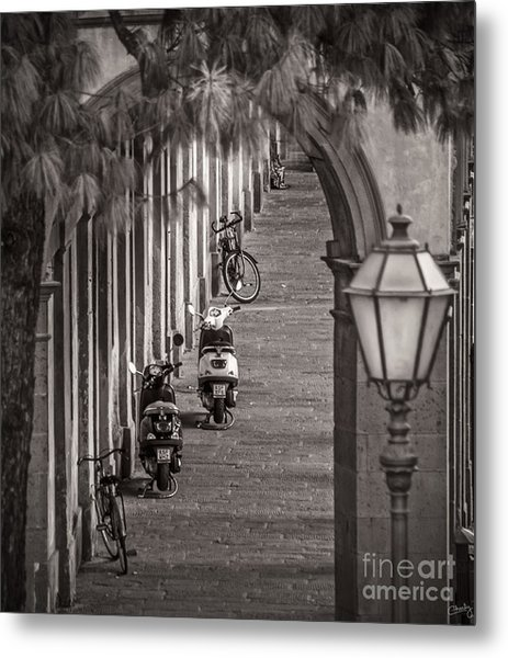 Scooters And Bikes Metal Print