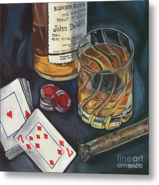 Scotch And Cigars 4 Metal Print