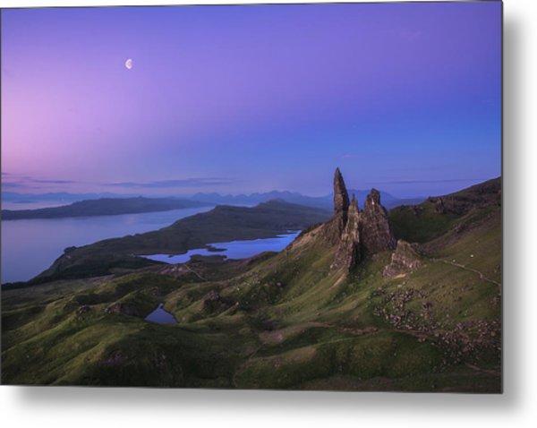 Scotland - Storr At Night Metal Print