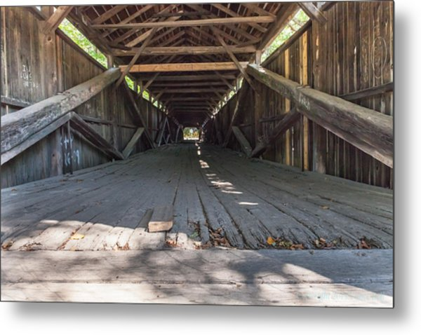 Scott Covered Bridge Metal Print