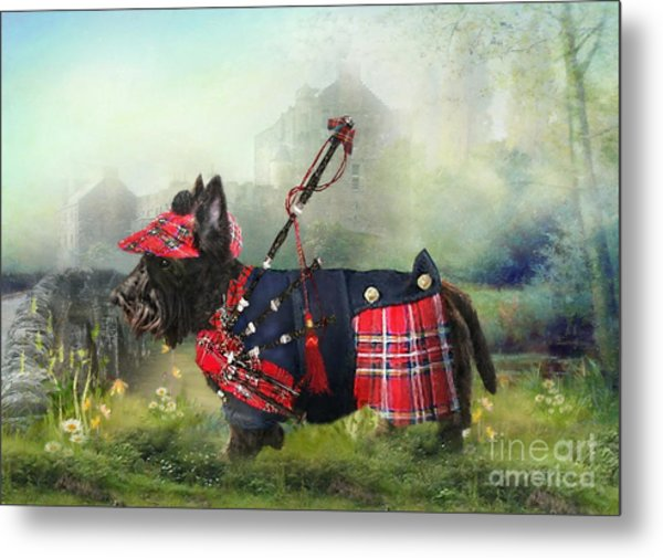 Scottie Of The Glen Metal Print